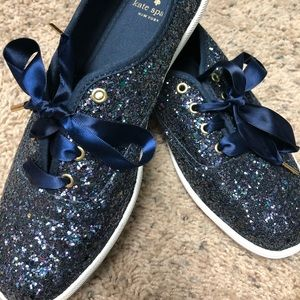 Blue Kate Spade Glitter Keds - New without box 8.5